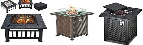 Outdoor Propane Gas Firepit Table
